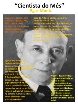Cientista do Mês Outubro - Egas Moniz.
