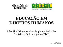 EDUCAÇÃO EM DIREITOS EM DIREITOS HUMANOS