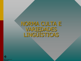 norma culta e variedades lingüísticas