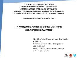 CETESB - Defesa Civil - Governo do Estado de São Paulo