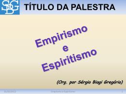 Empirismo e Espiritismo