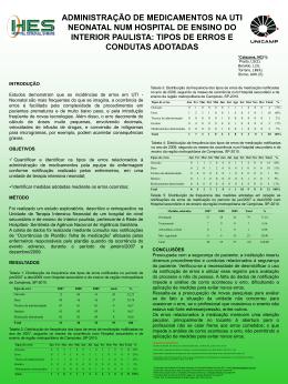 Poster ADMINISTRAÇÃO DE MEDICAMENTOS - HES