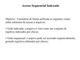 Acesso Sequencial Indexado