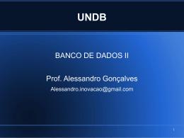 Banco de Dados II – aulas bloco 1