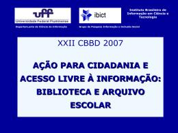 XXII CBBD apresentação Cidadania
