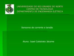 Sensor de corrente e tensão