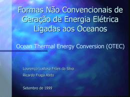 Formas Não Convencionais de Geração de Energia Ocean Thermal
