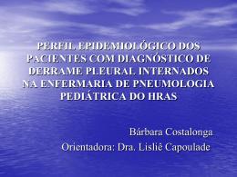 Perfil epidemiológico dos pacientes com diagnóstico de derrame