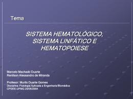 Sistema Hematológico HEMOSTASIA