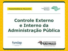 1 - Programa Transparência Paulista