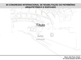 Apresentação do PowerPoint - XII Congresso Internacional de