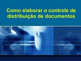 Como elaborar o controle de distribuição de documentos