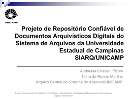 Projeto de Repositório Confiável de Documentos