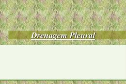 Drenagem Pleural