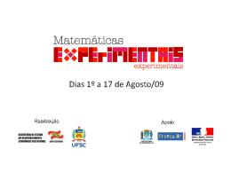 """exposição francesa """"experimentar na matemática"""""""