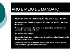 PROJECTO DO ME = O - Programa Prof2000