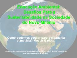Educação Ambiental No Novo Milénio