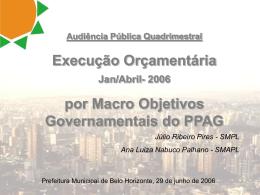 Programa - Câmara Municipal de Belo Horizonte