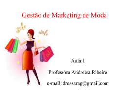 Gestão de Marketing de Moda