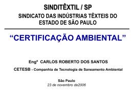 Certificações Ambientais - Sinditêxtil-SP