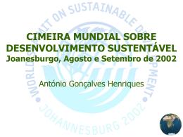 António Gonçalves Henriques Desenvolvimento Sustentável dos