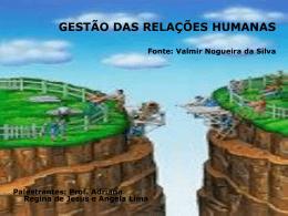 GESTÃO DAS RELAÇÕES HUMANAS