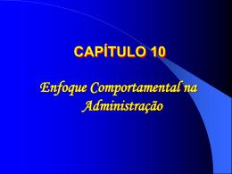Enfoque Comportamental - Universidade Castelo Branco