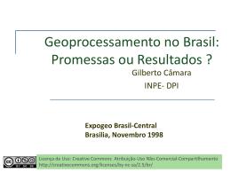 Geoprocessamento no Brasil: Promessas ou Resultados?