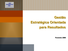 Projetos Orientados para Resultados no Contexto da