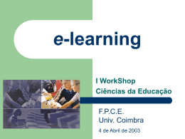 Workshop de e-learning