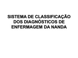 sistema de classificação dos diagnósticos de enfermagem da nanda