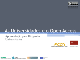 As Universidades e o Open Access