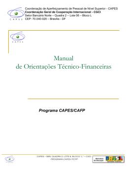 Manual de Orientações Técnico