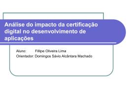 Análise do impacto da certificação digital no desenvolvimento de