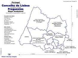 o mapa modulável do Concelho de Sintra, com as