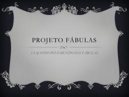 PROJETO FÁBULAS