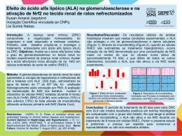Efeito do ácido alfa lipóico (ALA) na glomeruloesclerose e