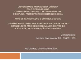 ATPS DE PARTICIPAÇÃO E CONTROLE SOCIAL (719872)