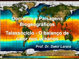 Talassociclo e balanço de calor dos oceanos