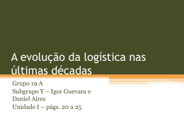 A evolução da logística nas últimas décadas