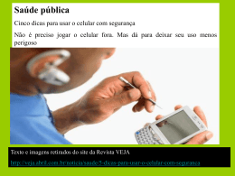Uso do celular-Alerta da OMS