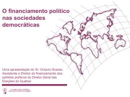 Le financement politique dans les sociétés démocratiques