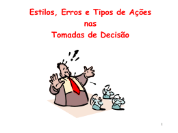 Decisoes Individuais versus Coletivas_Estilos, Erros e Tipos de