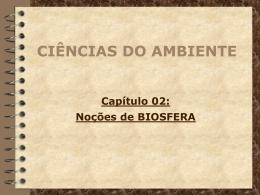 Capítulo 02: Noções de BIOSFERA CIÊNCIAS DO AMBIENTE