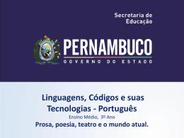 LÍNGUA PORTUGUESA, 3º Ano do Ensino Médio