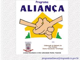 Programa Aliança - Prefeitura de Rio Grande
