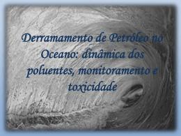 Derramamento de Petróleo no Oceano - Stoa Social