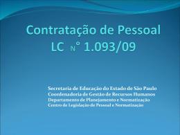 Secretaria de Educação do Estado de São Paulo Coordenadoria de