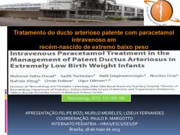 Tratamento do ducto arterioso patente com paracetamol intravenoso