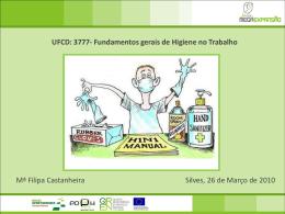 UFCD: 3777- Fundamentos gerais de Higiene no Trabalho